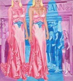 fashion/moda, acrylic on canvas, 28.5 x 26 inches